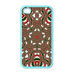 Christmas Kaleidoscope Apple iPhone 4 Case (Color) Front