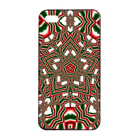 Christmas Kaleidoscope Apple iPhone 4/4s Seamless Case (Black)