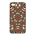 Christmas Kaleidoscope Apple iPhone 4/4s Seamless Case (Black) Front