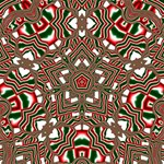 Christmas Kaleidoscope Happy Birthday 3D Greeting Card (8x4) Inside