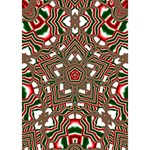 Christmas Kaleidoscope Heart 3D Greeting Card (7x5) Inside