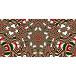 Christmas Kaleidoscope Twin Hearts 3D Greeting Card (8x4) Front