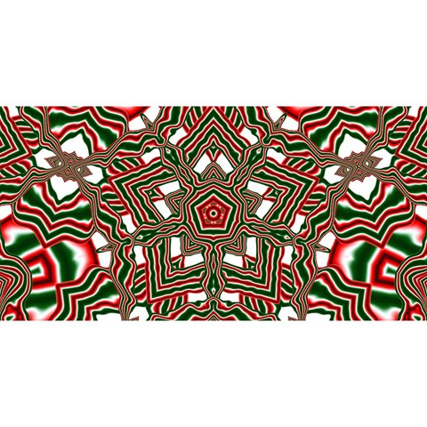 Christmas Kaleidoscope YOU ARE INVITED 3D Greeting Card (8x4)