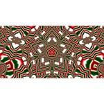 Christmas Kaleidoscope Twin Heart Bottom 3D Greeting Card (8x4) Back