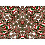 Christmas Kaleidoscope Circle Bottom 3D Greeting Card (7x5) Front