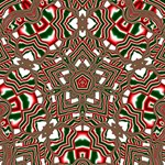 Christmas Kaleidoscope PARTY 3D Greeting Card (8x4) Inside