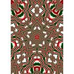 Christmas Kaleidoscope Get Well 3D Greeting Card (7x5) Inside