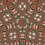 Christmas Kaleidoscope Merry Xmas 3D Greeting Card (8x4) Inside