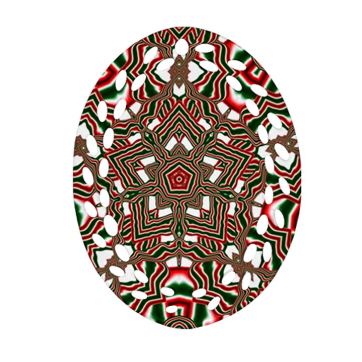 Christmas Kaleidoscope Ornament (Oval Filigree)