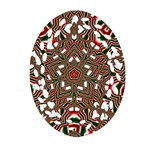 Christmas Kaleidoscope Oval Filigree Ornament (2-Side)  Front