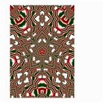 Christmas Kaleidoscope Small Garden Flag (Two Sides) Front