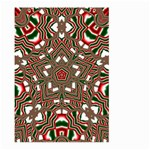 Christmas Kaleidoscope Large Garden Flag (Two Sides) Back