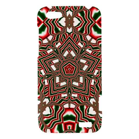 Christmas Kaleidoscope HTC One V Hardshell Case