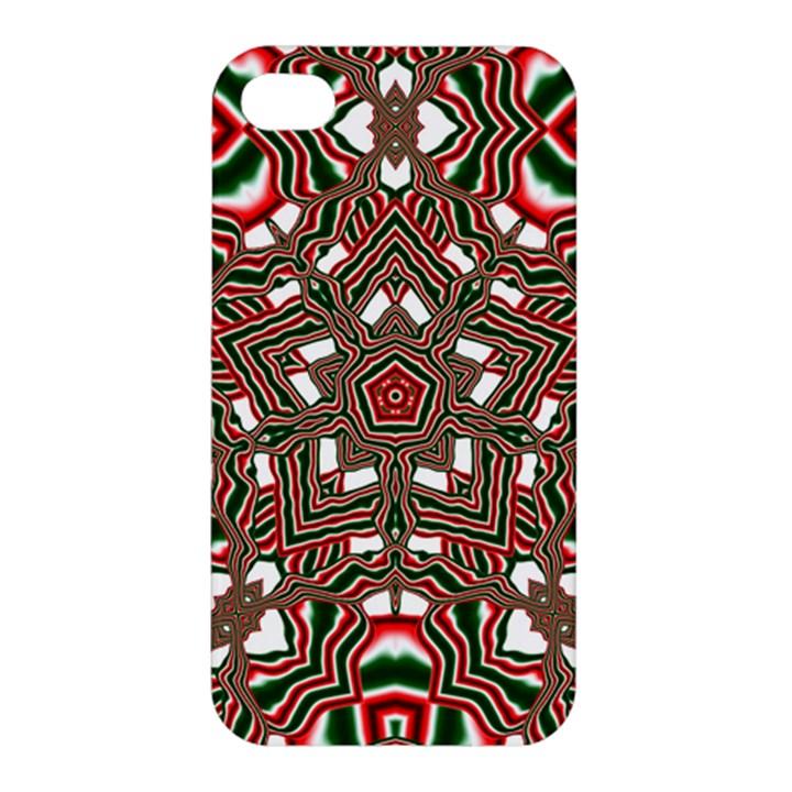 Christmas Kaleidoscope Apple iPhone 4/4S Premium Hardshell Case