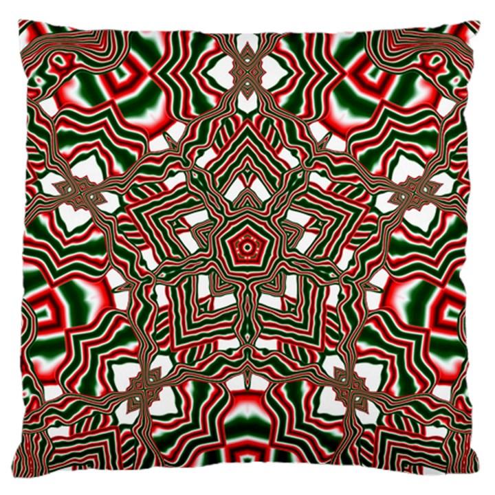 Christmas Kaleidoscope Large Cushion Case (One Side)