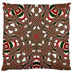 Christmas Kaleidoscope Large Cushion Case (Two Sides) Back
