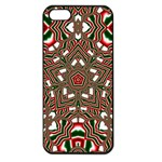 Christmas Kaleidoscope Apple iPhone 5 Seamless Case (Black) Front