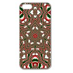 Christmas Kaleidoscope Apple Seamless iPhone 5 Case (Clear) Front
