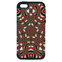 Christmas Kaleidoscope Apple iPhone 5 Hardshell Case (PC+Silicone)