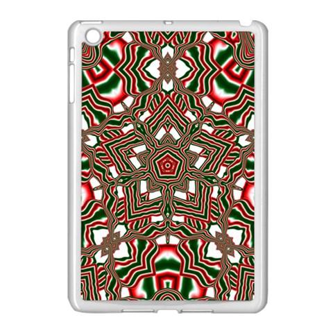 Christmas Kaleidoscope Apple iPad Mini Case (White)