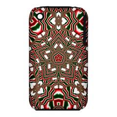 Christmas Kaleidoscope Apple iPhone 3G/3GS Hardshell Case (PC+Silicone)