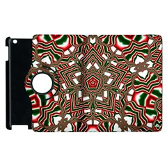 Christmas Kaleidoscope Apple iPad 2 Flip 360 Case