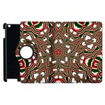 Christmas Kaleidoscope Apple iPad 2 Flip 360 Case Front