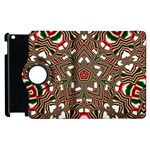 Christmas Kaleidoscope Apple iPad 3/4 Flip 360 Case Front