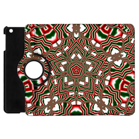 Christmas Kaleidoscope Apple iPad Mini Flip 360 Case