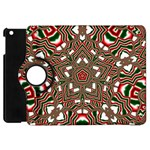 Christmas Kaleidoscope Apple iPad Mini Flip 360 Case Front