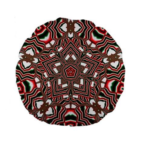 Christmas Kaleidoscope Standard 15  Premium Round Cushions