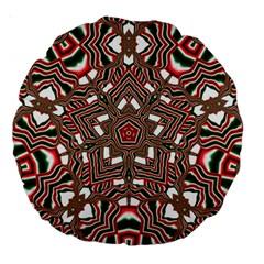 Christmas Kaleidoscope Large 18  Premium Round Cushions