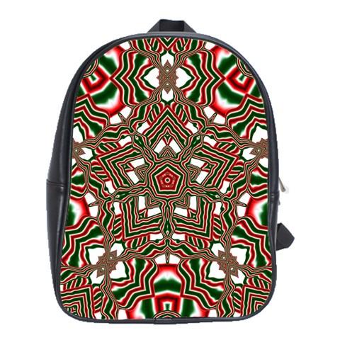 Christmas Kaleidoscope School Bags (XL)