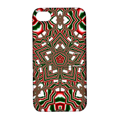 Christmas Kaleidoscope Apple iPhone 4/4S Hardshell Case with Stand