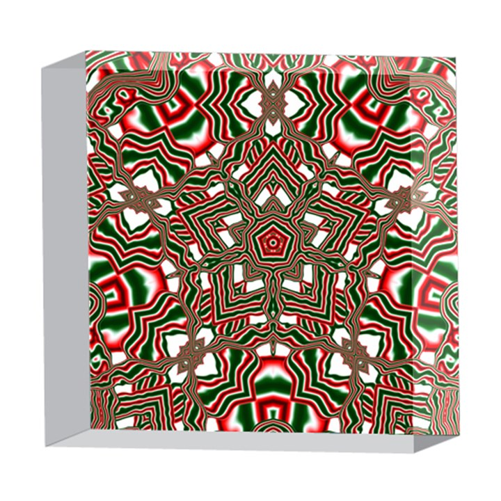 Christmas Kaleidoscope 5  x 5  Acrylic Photo Blocks