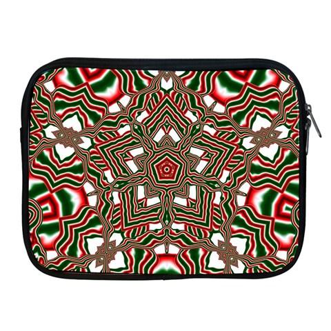 Christmas Kaleidoscope Apple iPad 2/3/4 Zipper Cases