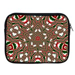 Christmas Kaleidoscope Apple iPad 2/3/4 Zipper Cases Front