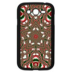 Christmas Kaleidoscope Samsung Galaxy Grand DUOS I9082 Case (Black) Front
