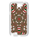 Christmas Kaleidoscope Samsung Galaxy Note 2 Case (White) Front