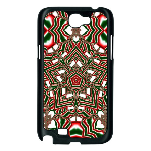 Christmas Kaleidoscope Samsung Galaxy Note 2 Case (Black)