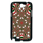 Christmas Kaleidoscope Samsung Galaxy Note 2 Case (Black) Front