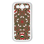 Christmas Kaleidoscope Samsung Galaxy S3 Back Case (White) Front