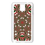Christmas Kaleidoscope Samsung Galaxy Note 3 N9005 Case (White) Front