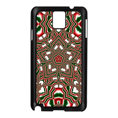 Christmas Kaleidoscope Samsung Galaxy Note 3 N9005 Case (Black)
