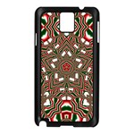 Christmas Kaleidoscope Samsung Galaxy Note 3 N9005 Case (Black) Front