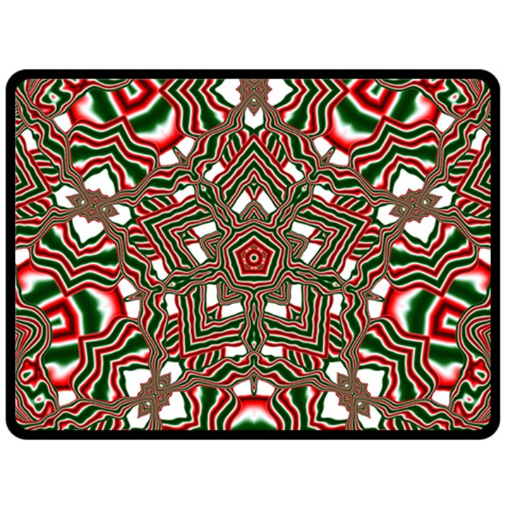 Christmas Kaleidoscope Double Sided Fleece Blanket (Large)