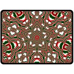 Christmas Kaleidoscope Double Sided Fleece Blanket (Large)  80 x60 Blanket Back
