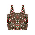 Christmas Kaleidoscope Full Print Recycle Bags (S)  Front