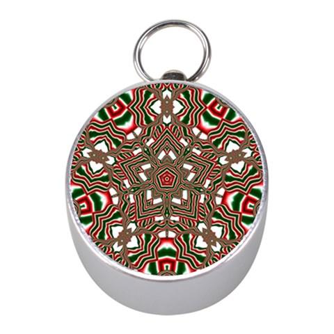 Christmas Kaleidoscope Mini Silver Compasses