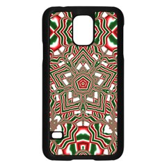 Christmas Kaleidoscope Samsung Galaxy S5 Case (Black)